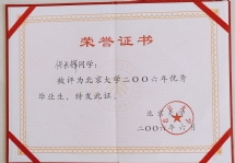 荣誉证书 共5张