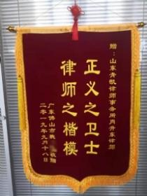 广东魏女士赠送的锦旗 共1张